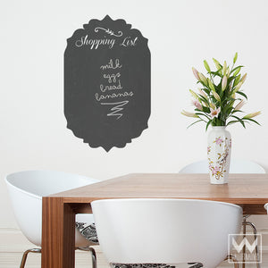 Peel and Stick Shopping List Chalkboard Vinyl Wall Decals for Writing - Wallternatives