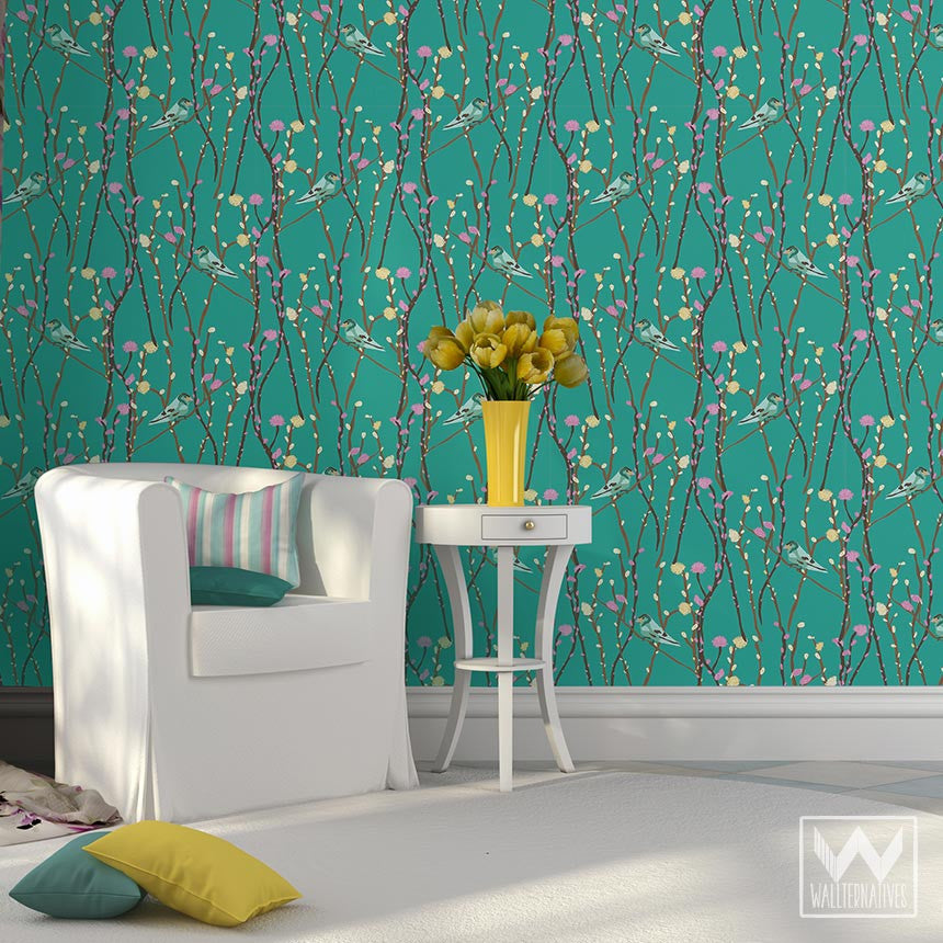 Deer antlers pattern on removable wallpaper from bonnie for Removable wallpaper