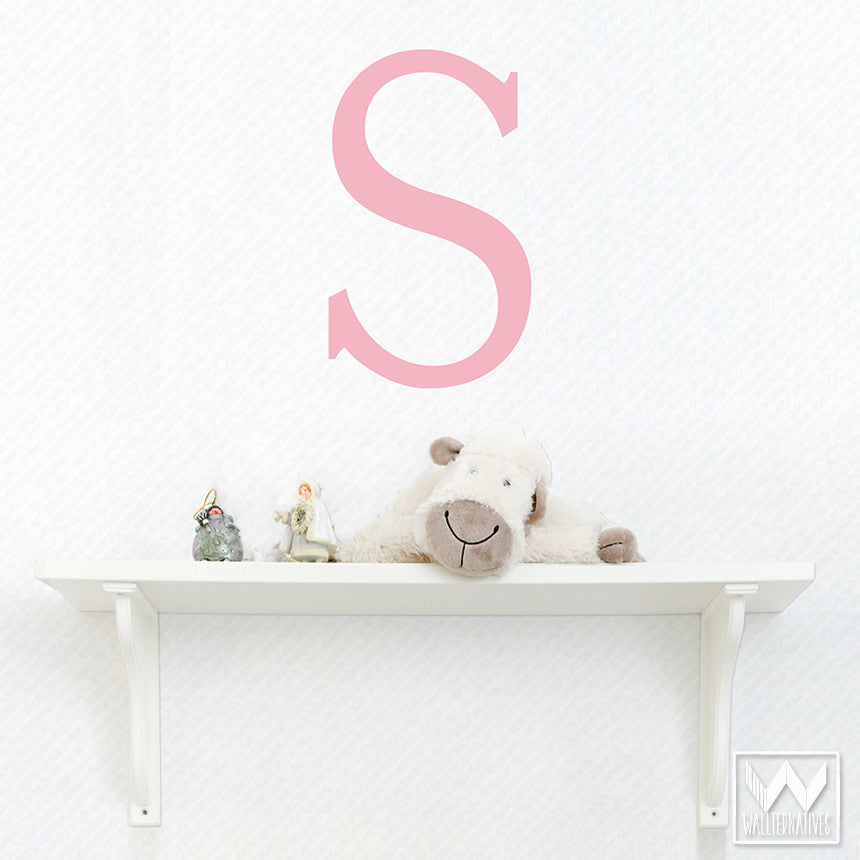 Great Classic Monogram Letters Vinyl Wall Decals For Kids Room Decor ...