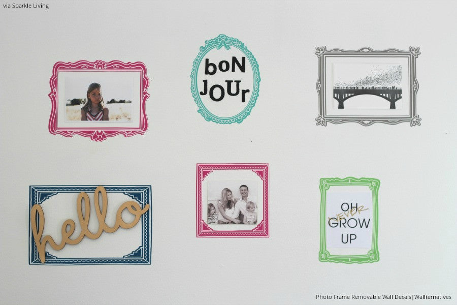Vintage Photo Frame Wall Decal A Graphic Sticker For Dorm Or - Wall decals with picture frames
