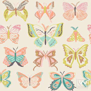 Little Girls Room Makeover with Butterfly Removable Wallpaper