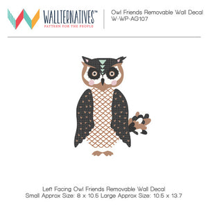 Trendy Boys Room and Nursery Wall Decor - Owls Removable Wall Decals & Adhesive Stickers