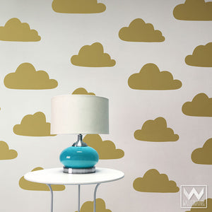Colorful Clouds Shapes for Decorating Bedroom or Nursery - Wallternatives Vinyl Wall Decals