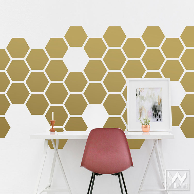 Childrens Wall Decals Honeycomb Wall Decals Bee Wall Decals Hexagon Vinyl Decals Honeycomb Wall Pattern