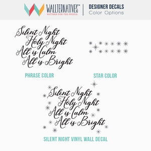 Christmas Wall Decals - Silent Night Saying - Wallternatives Vinyl Decals