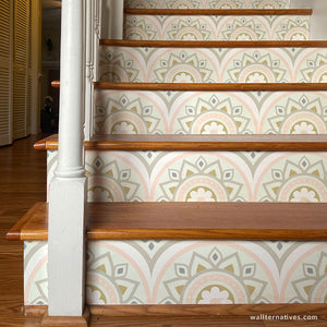 Decorative Stair Decals Bohemian Wallpaper Stair Stickers - Wallternatives wallternatives.com