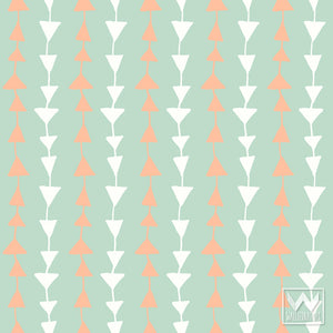 Cute Boys Room or Baby Nursery Decor Ideas - Bonnie Christine Designer Patterns on Modern Removable Wallpaper