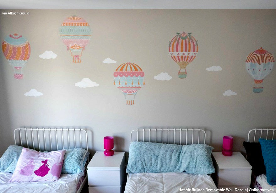 ... Cute Nursery Decor Using Hot Air Balloon Removable Wall Decals From  Wallternatives Part 41