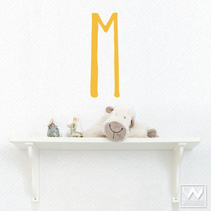 Cute Kids Room Decor - Colorful Monogram Letter Vinyl Wall Decals