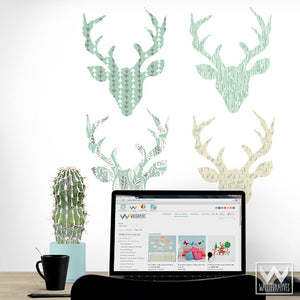 Decorating Boys Room or Nursery Decor Ideas - Peel and Stick Deer Antlers Removable Wall Decals