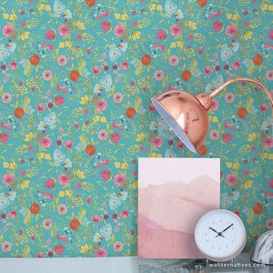 Budquette Bari J. Removable Wallpaper - Teal