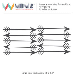 Large Arrows Wall Mural Stickers Decorative Wall Decals - Wallternatives
