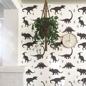 Dinosaurs Vinyl Wall Decals for Decorating Cute Boys Room or Nursery Wall Mural Art - Wallternatives