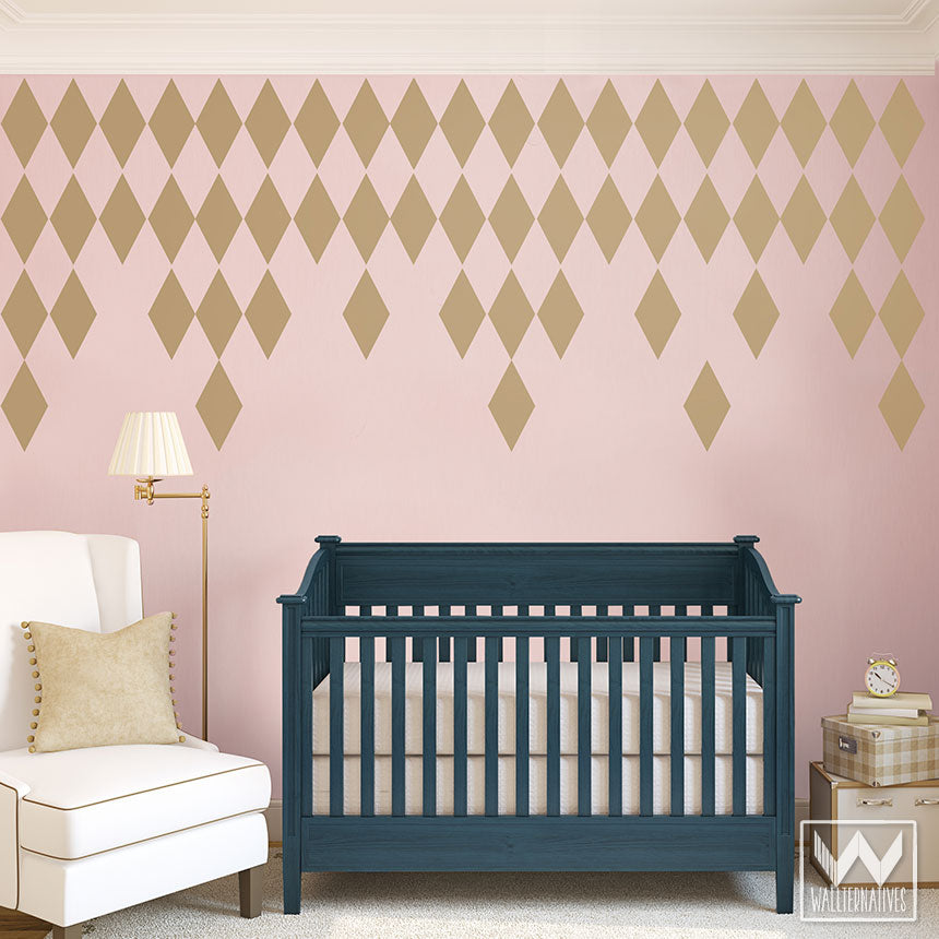Lovely ... Diamond Harlequin Pattern For Modern And Geometric Wall Decor   Diamond  Shapes Wall Decals ...
