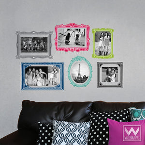 Colorful Photo Frames Removable Wall Decals from Wallternatives
