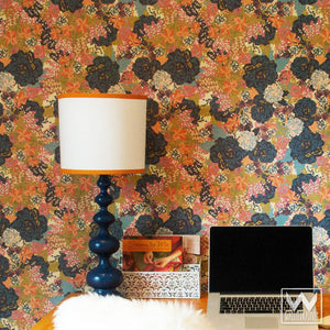Bari J Designs Vintage Floral Pattern Is Now A Removable Wallpaper Wallternatives
