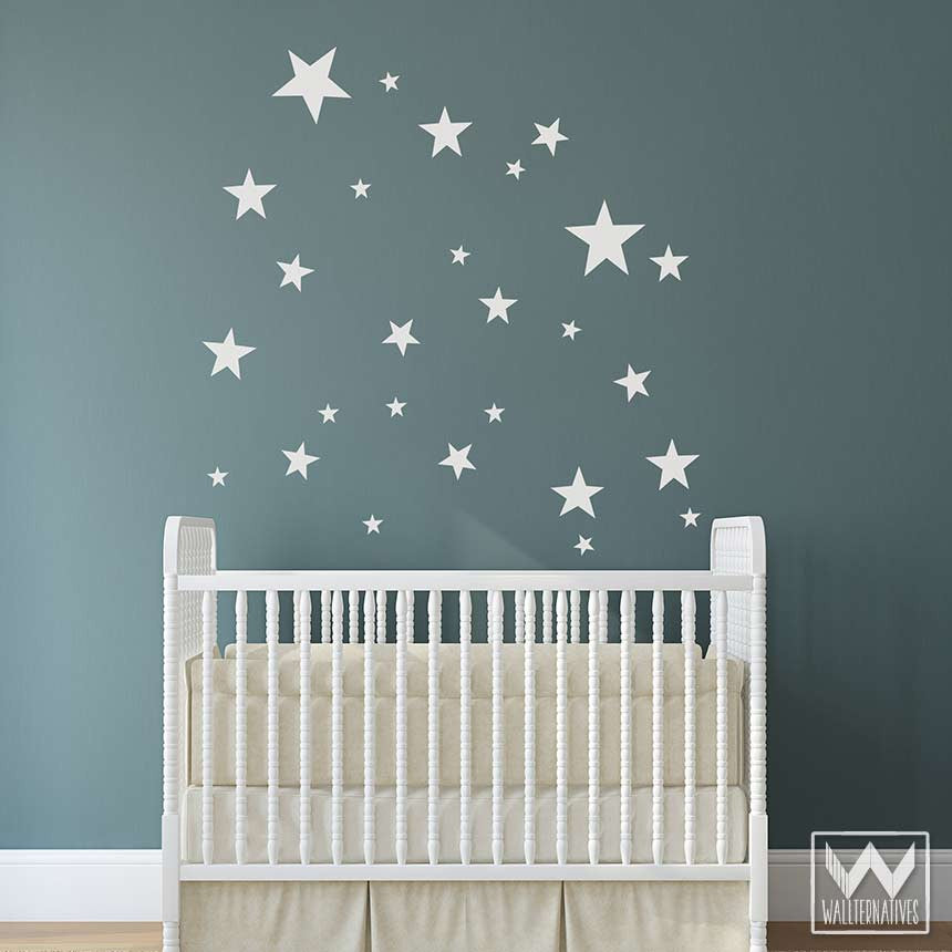 ... Baby Boy Nursery With Stars And Shapes   Vinyl Wall Decals ... Part 80