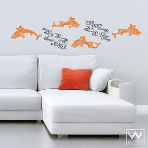 Adhesive Wall Murals of Fish and Ocean Vinyl Wall Decals - Wallternatives