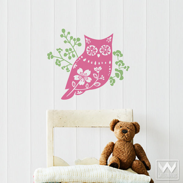 Cute Owl Decor   Owl Wall Decals From Wallternatives ...