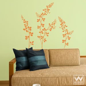 Flowers Floral Vinyl Wall Decals for Easy DIY Wall Art Murals - Wallternatives