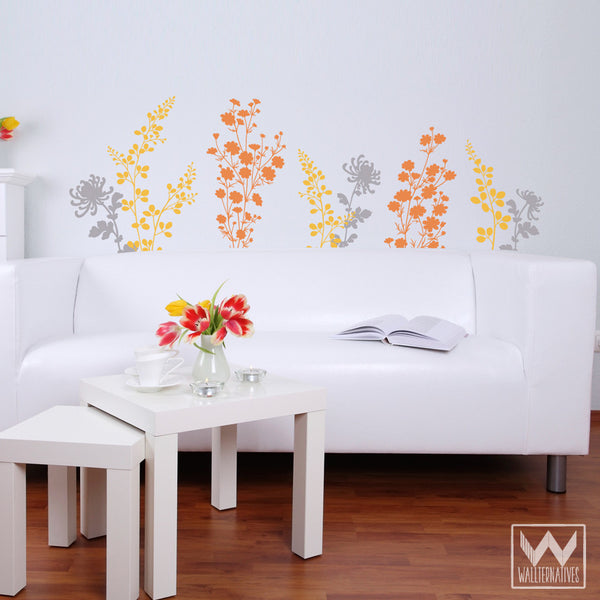 Colorful Flower Wall Decals For DIY Custom Wall Art   Wallternatives ...