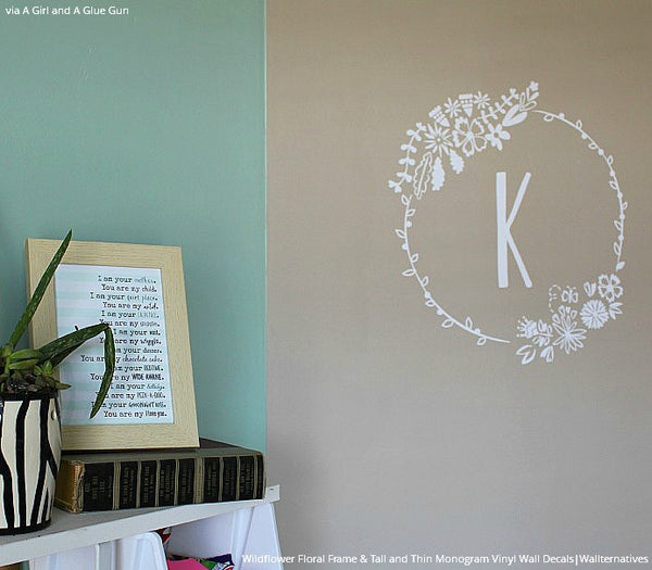 Wildflowers Flowers Floral Frame Vinyl Wall Decal Graphic For ...