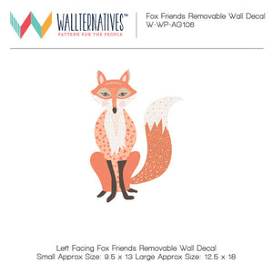 Cute Wall Decor for Decorating Boys Nursery - Fabric Fox Removable Wall Decals