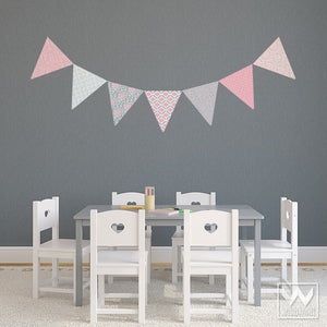 Pink and Gray Girls Bedroom Decor - Easy DIY Removable Wall Decals