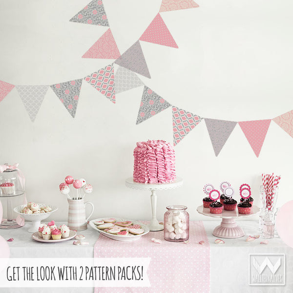 Garden Bunting Wall Decals Pattern Pack Of Flags For