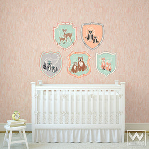 Peel and Stick Removable Wall Decals - Modern Animals for Cute Nursery Decor Ideas