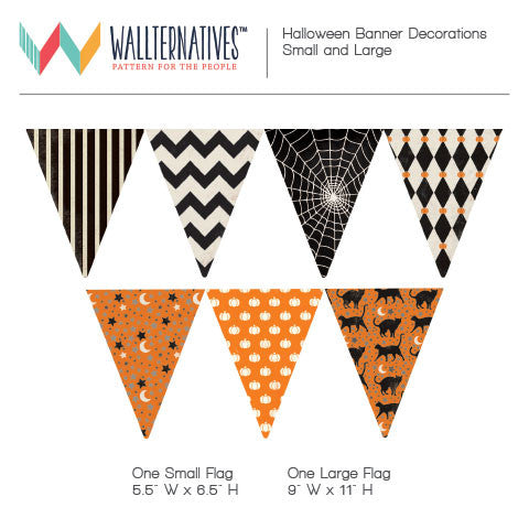 Halloween Bunting Flags Banner Wall Decal Holiday Party