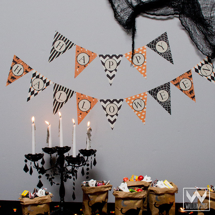 Adhesive Halloween Party Decorations Removable Wall Decals   Wallternatives  ...