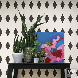 Harlequin Pattern for Modern and Geometric Wall Decor - Diamond Shapes Wall Decals