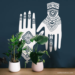 Henna Hands Vinyl Wall Decals Set