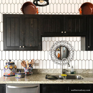 Hexagon Subway Tile Removable Wallpaper
