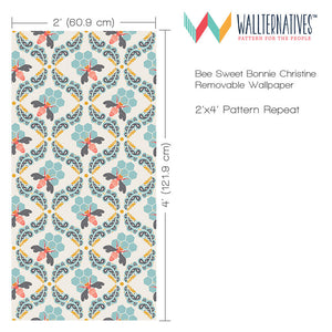 Geometric Removable Wallpaper - Girls Room or Boys Room Decor by Wallternatives