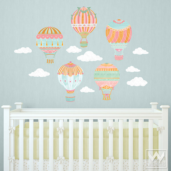 Captivating ... Cute Nursery Decor Using Hot Air Balloon Removable Wall Decals From  Wallternatives ... Good Looking