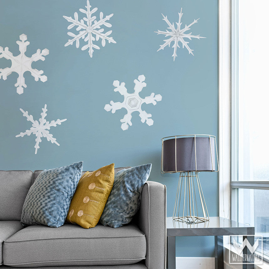 Winter Snowflake Removable Wall Decal - Wall Art For Christmas Decor ...