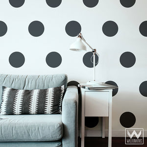 Big Polka Dot Wall Decals and Wall Stickers for Dorm or Nursery Decor