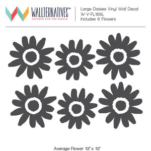 Large Daisies Floral Wall Designs Peel and Stick Decals for Nursery Decor - Wallternatives