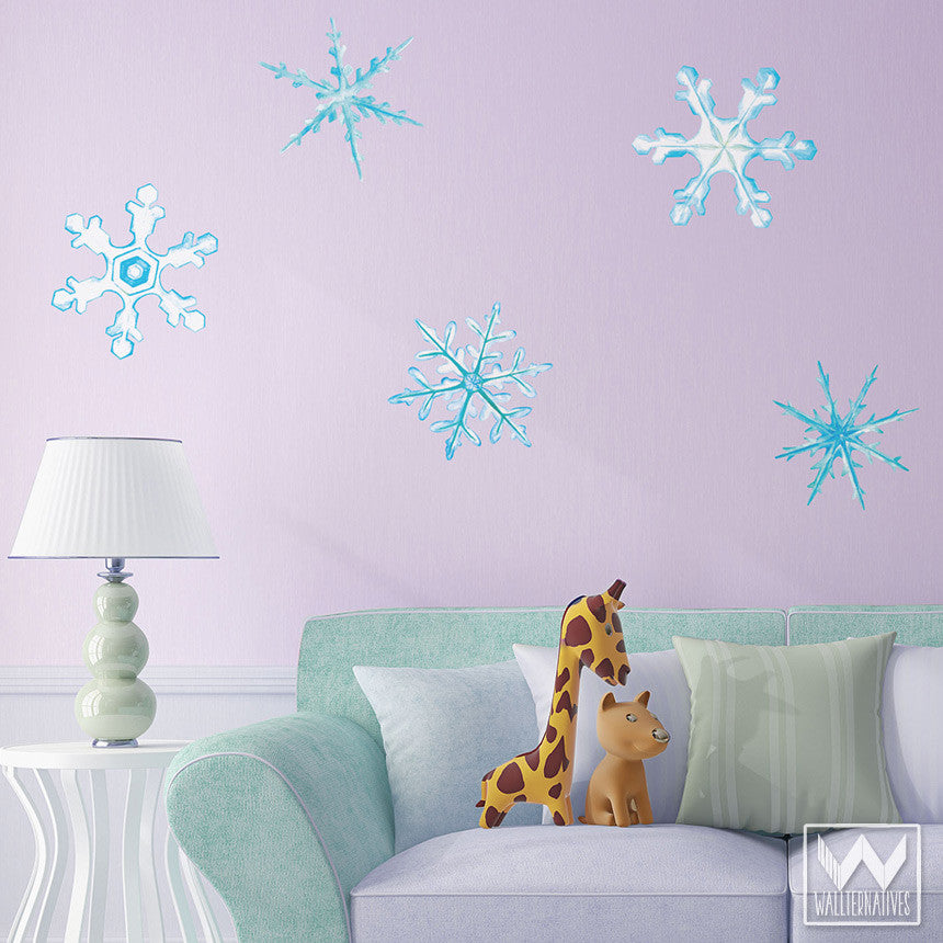 ... Winter Snowflake Removable Christmas Wall Decals For Holiday Decorating    Wallternatives ...