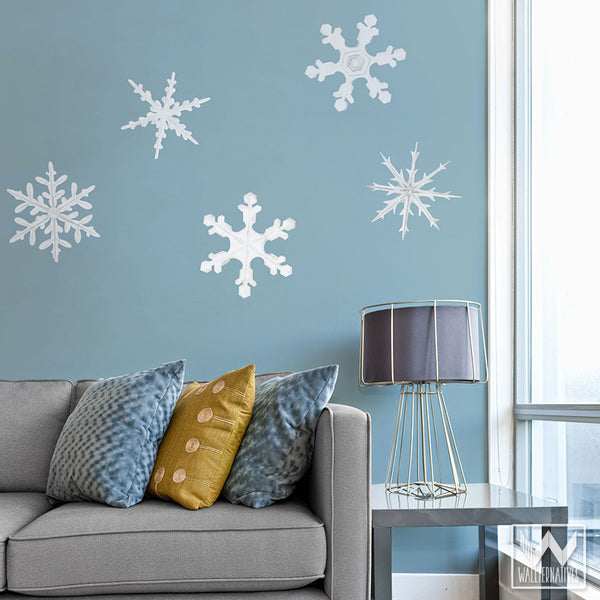 Superbe ... Winter Snowflake Removable Christmas Wall Decals For Holiday Decorating    Wallternatives ...