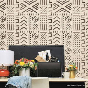 Mali Mudcloth Removable Wallpaper