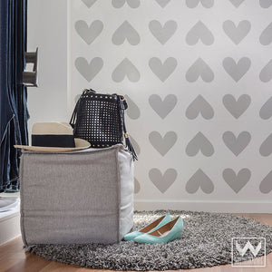 Easy and Cute DIY Wall Decor Idea Peel and Stick Hearts Shapes Vinyl Wall Decals - Wallternatives