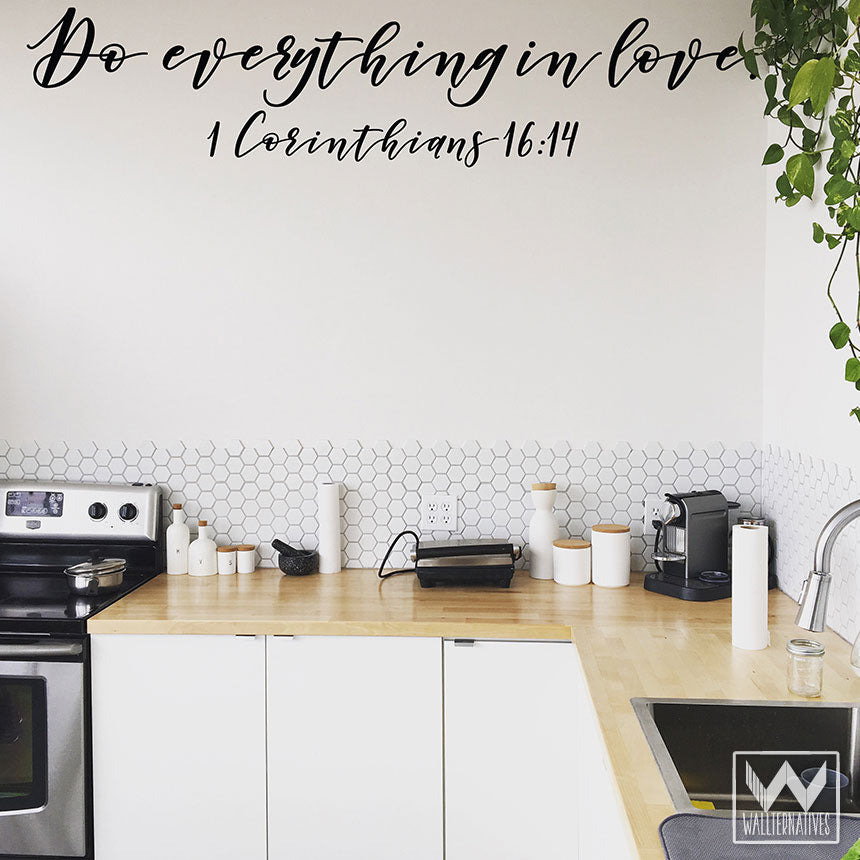... Bible Verse Do Everything In Love Wall Saying Decals For Decorating    Wallternatives