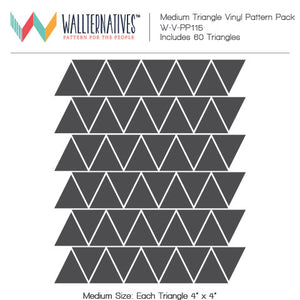 Mid Century Modern Tribal Triangles Vinyl Wall Decals for Decorating - Wallternatives