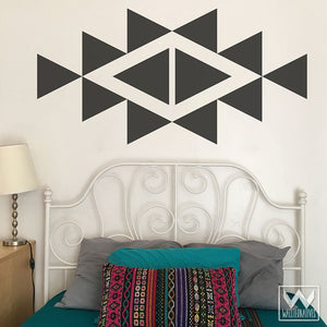 Large Triangle Shapes Wall Decals for Cute Trendy Wall Decor - Modern and Geometric Dorm Decor