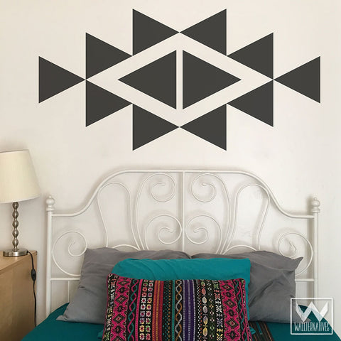 Large Triangle Shapes Wall Decals For Cute Trendy Wall Decor   Modern And  Geometric Dorm Decor