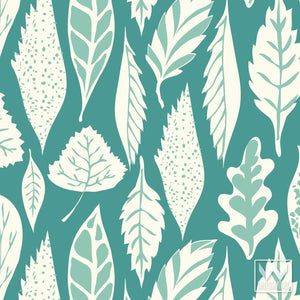 Teal Blue Removable and Adhesive Wallpaper for Cute Boys Room Decor Ideas - Wallternatives