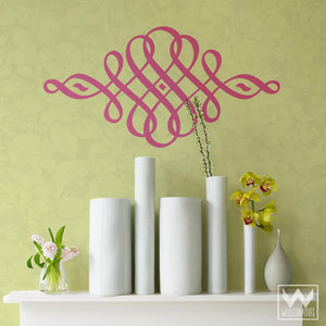 Ornate and Decorative Vinyl Wall Decals for Chic Wall Art Decorating - Wallternatives